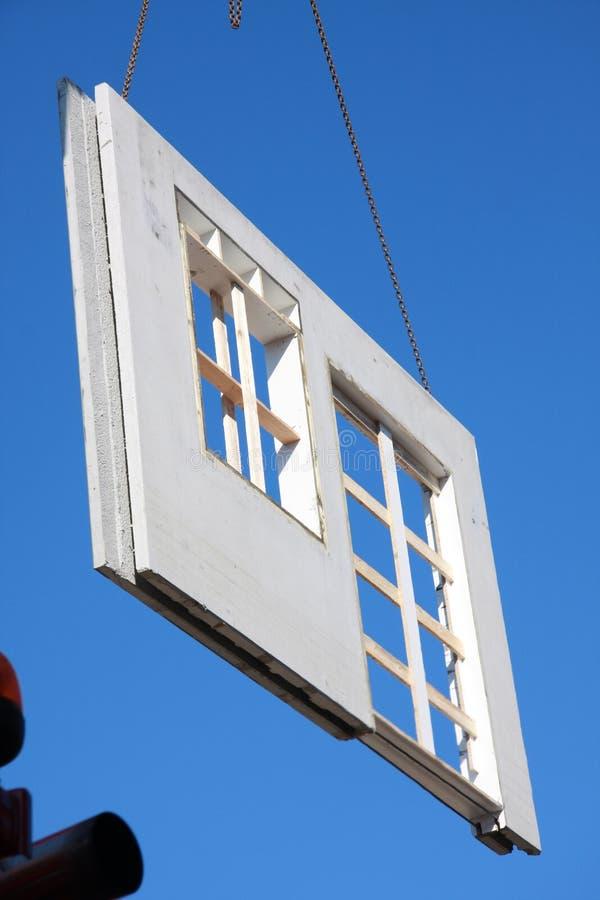 Een deel van een geprefabriceerd huis stock fotografie