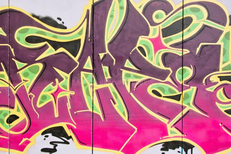 Een deel van een graffiti royalty-vrije stock fotografie