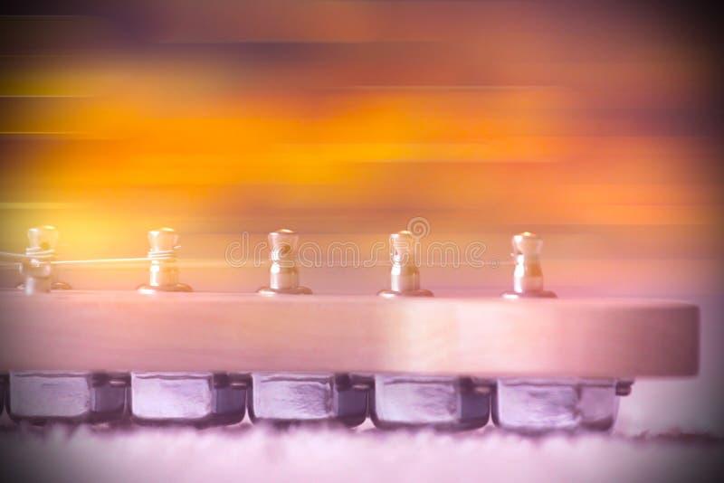 Een deel van elektrische gitaar stock afbeelding