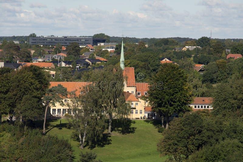 Een deel van Fredericia-horizon royalty-vrije stock fotografie
