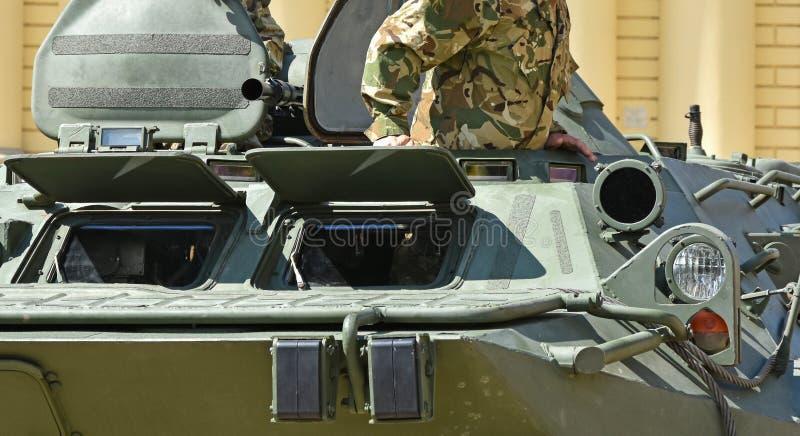 Een deel van een gepantserd militair voertuig royalty-vrije stock fotografie