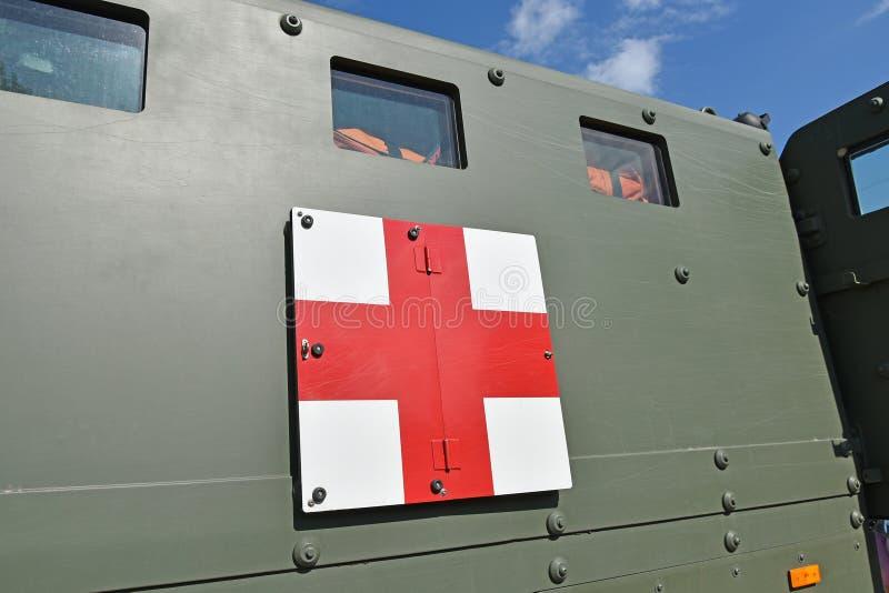Een deel van een gepantserd militair voertuig royalty-vrije stock foto
