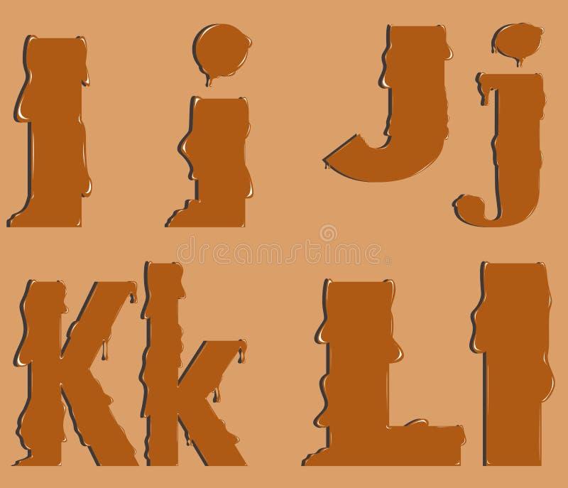 Een deel van het alfabet royalty-vrije illustratie