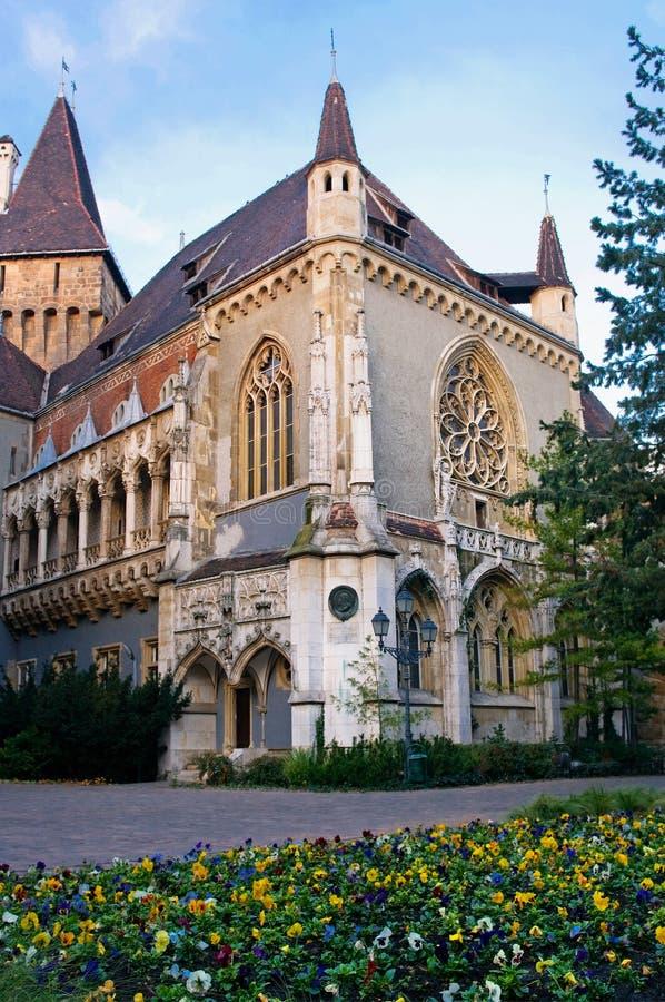 Een deel van het Kasteel Vajdahunjad in Boedapest royalty-vrije stock foto's