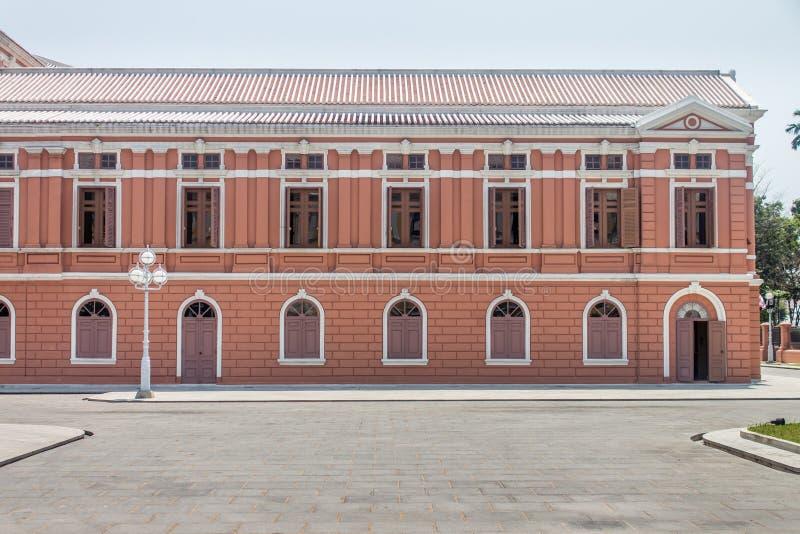 Een deel van het Thaise Ministerie van het de bouwsaranrom Paleis van Buitenlandse zaken in Bangkok, Thailand stock afbeelding