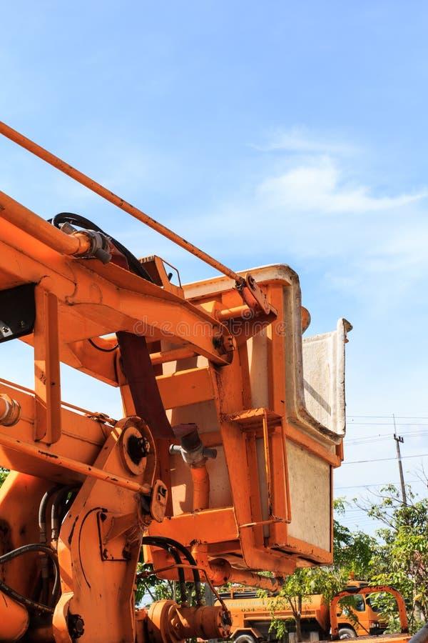 Een deel van kraanauto stock afbeelding