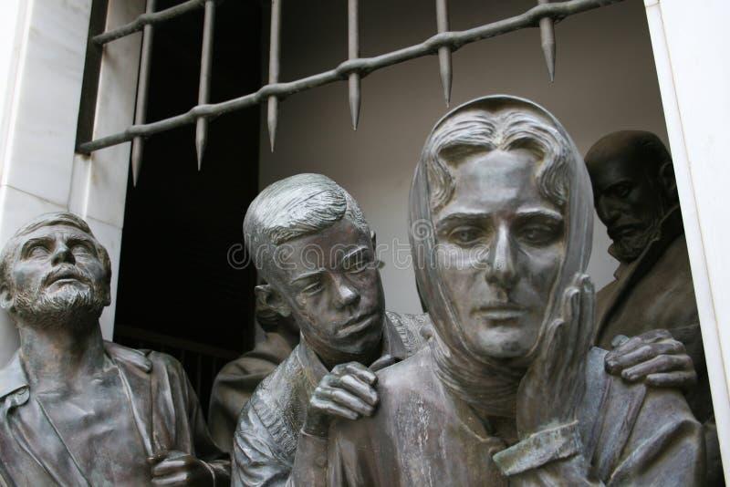 Een deel van Liberty Monument in Nicosia stock fotografie
