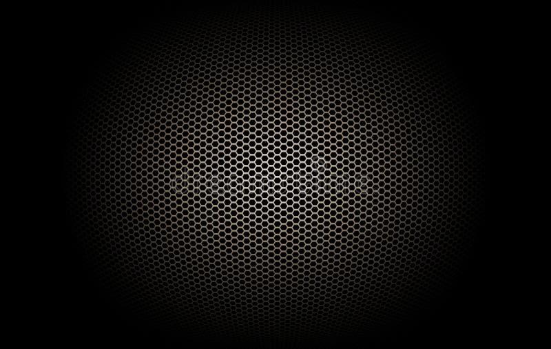 Een deel van microfoon en luidspreker royalty-vrije illustratie