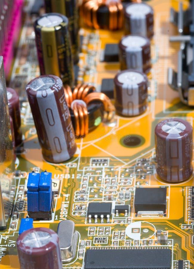 Een deel van motherboard royalty-vrije stock foto