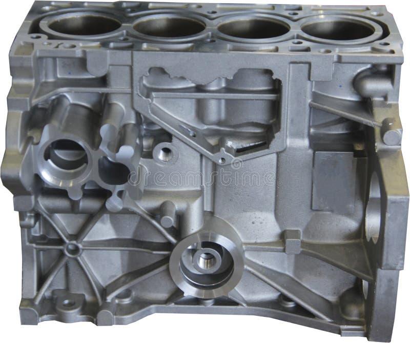 Een deel van motor - mechanisch systeem van moderne motoren productie stock foto's