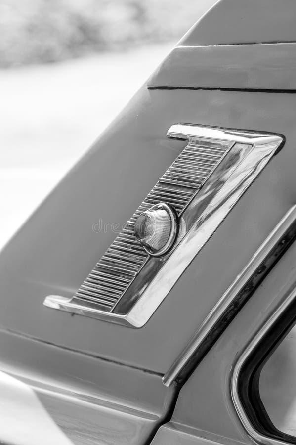Een deel van retro auto royalty-vrije stock afbeelding