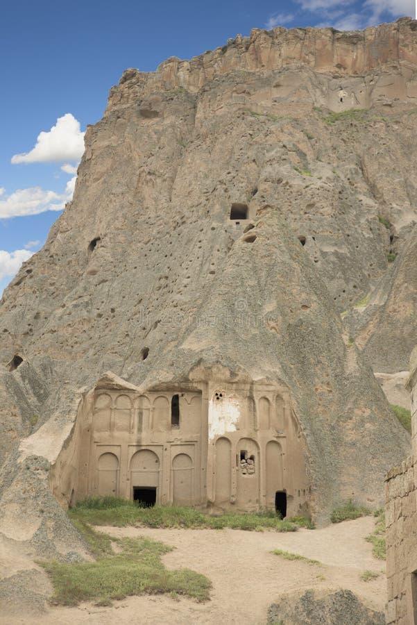 Een deel van Selime-Kathedraal, Aksaray-provincie, Turkije royalty-vrije stock afbeelding