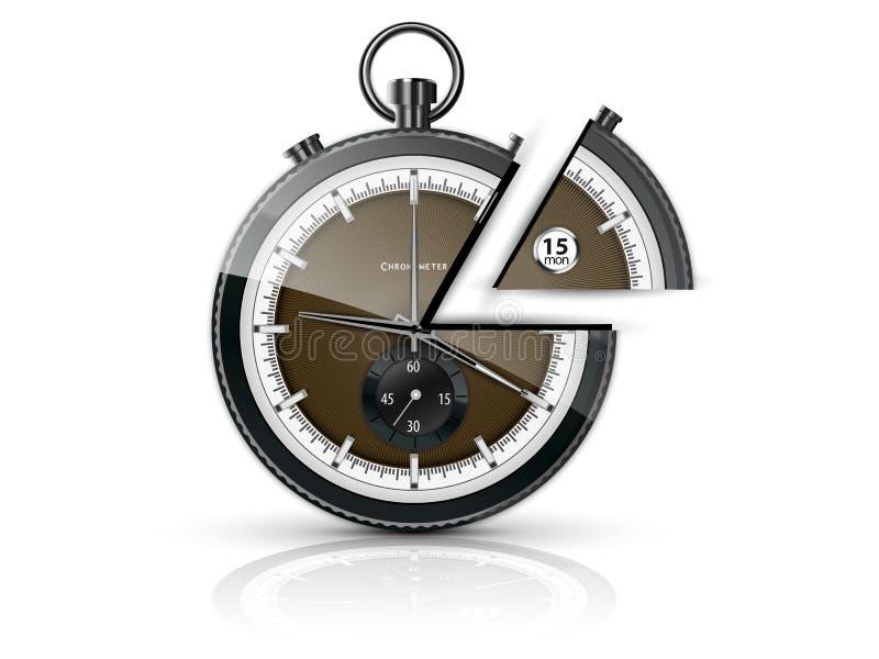 Een deel van tijd vector illustratie
