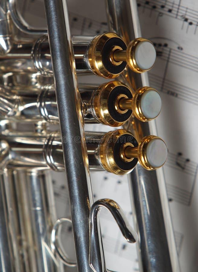 Een deel van trompet royalty-vrije stock foto