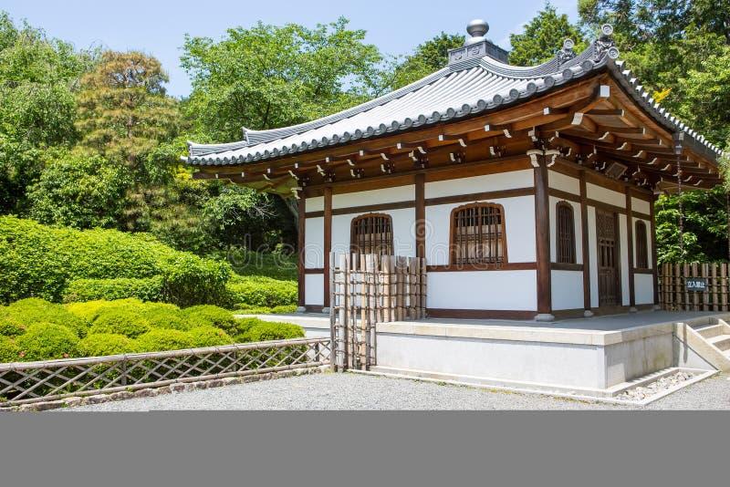 Een deel van tuin van tempel Ryoan -ryoan-ji in Kyoto, Japan royalty-vrije stock foto