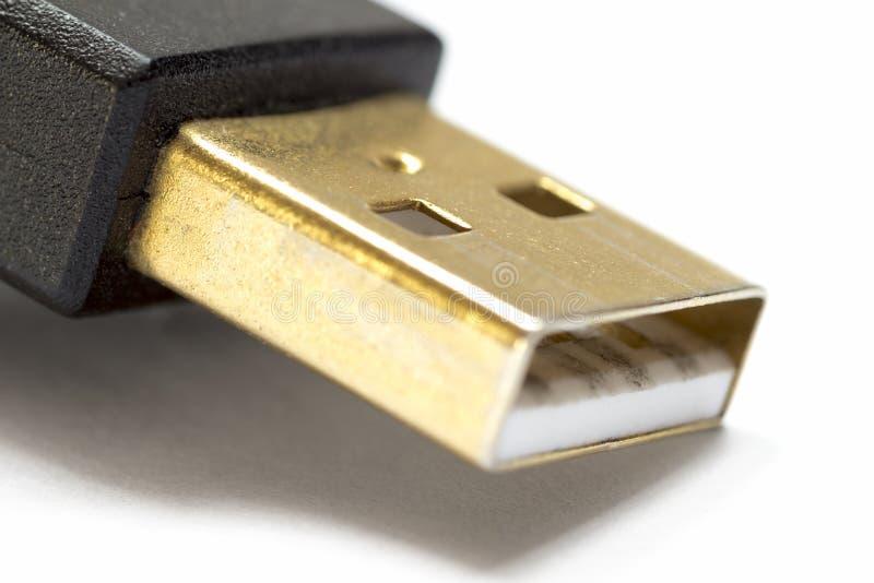 Een deel van USB-schakelaar stock foto