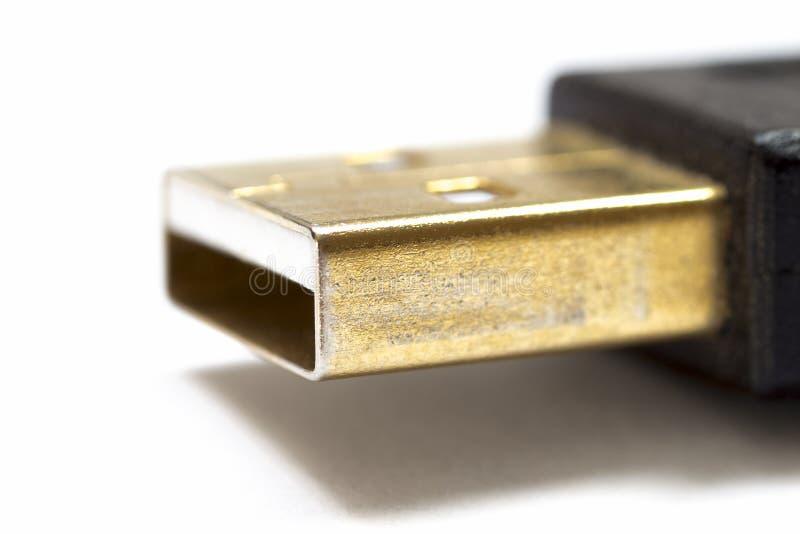Een deel van USB-schakelaar stock foto's