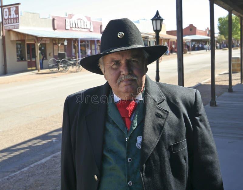Een deelnemer van Helldorado, Grafsteen, Arizona royalty-vrije stock afbeelding