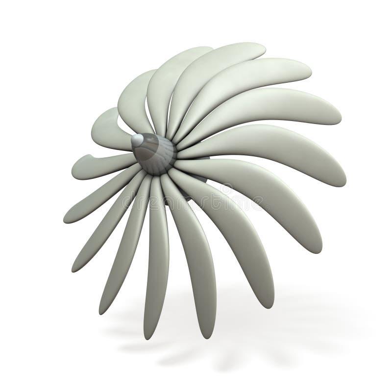 Een denkbeeldig turbinebeeld vector illustratie