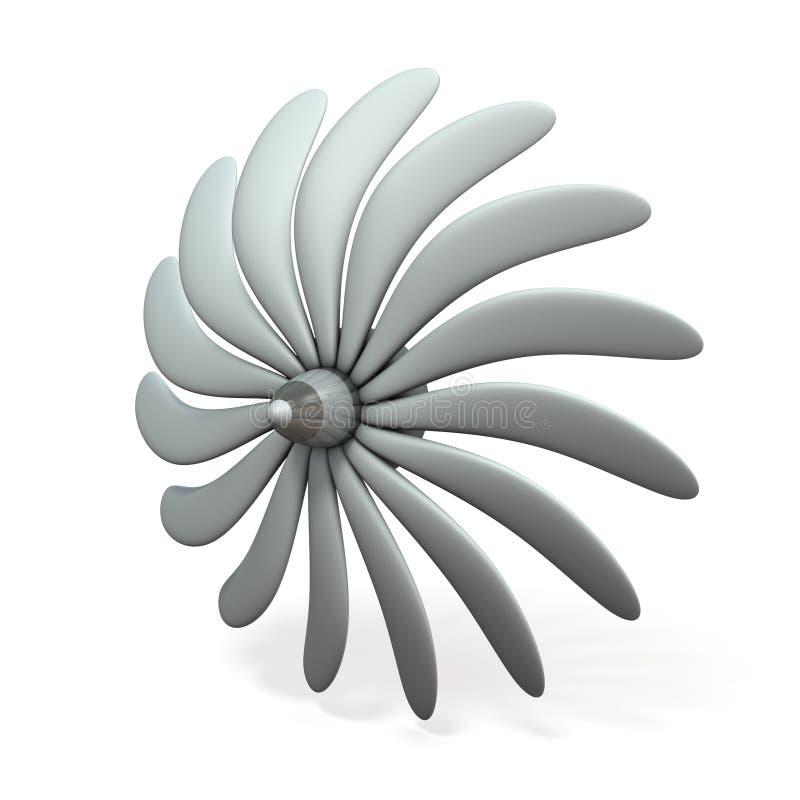 Een denkbeeldig turbinebeeld royalty-vrije illustratie