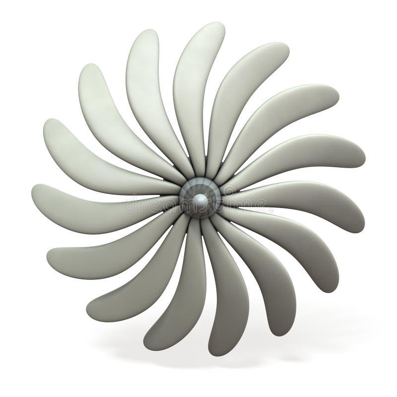 Een denkbeeldig turbinebeeld stock illustratie