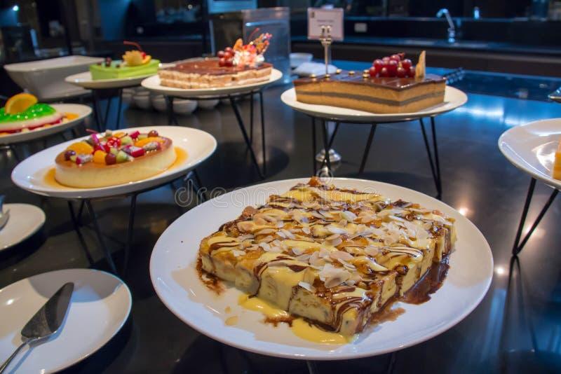 Een dessert voor buffet stock fotografie