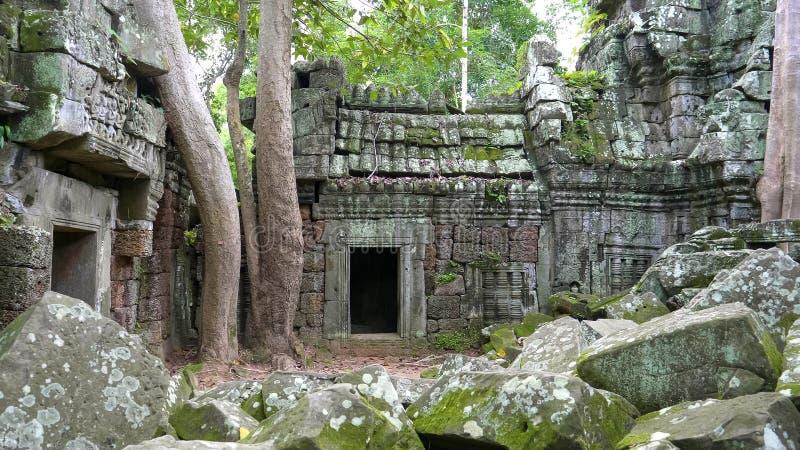 Een deuropening bij de tempel van Ta nei, angkor royalty-vrije stock foto