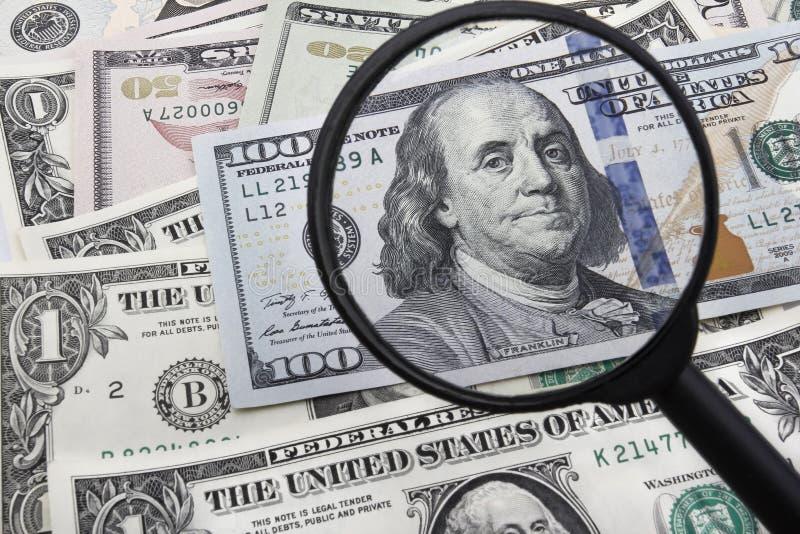 Een Dichte Blik op een 100 USD bankbiljet stock afbeeldingen
