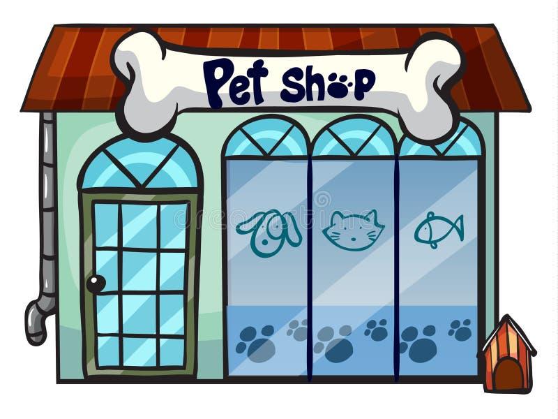Een dierenwinkel stock illustratie