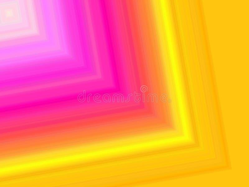 Een digitale kunst van trillende kleuren achtergrond stock illustratie