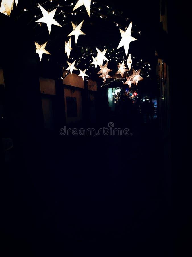 Een diner in de nacht stock afbeeldingen
