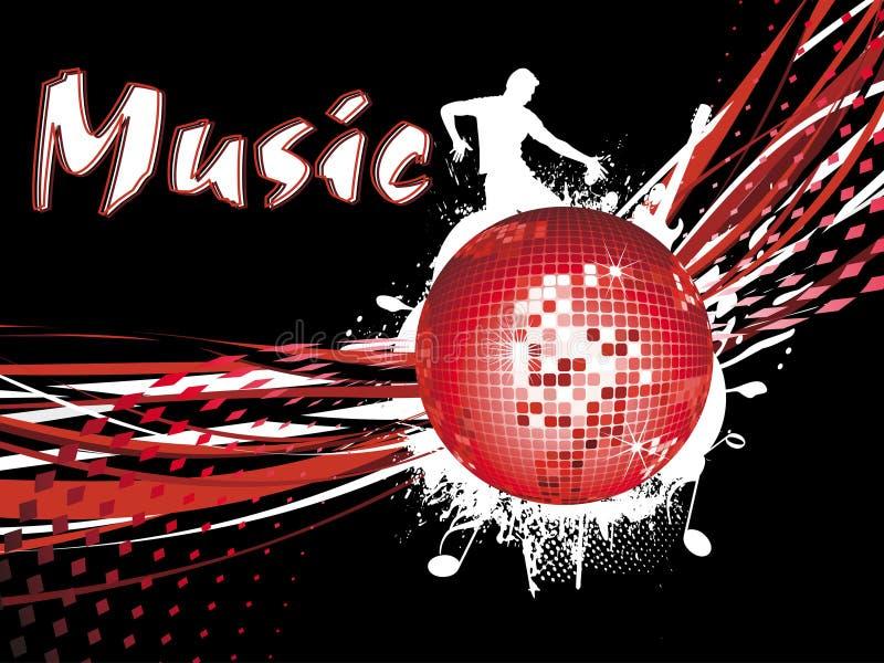een discobal met een silhouet royalty-vrije illustratie