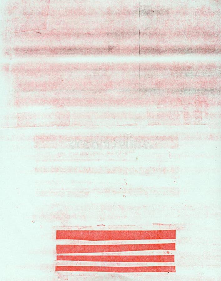 Een document met vuil stock afbeelding