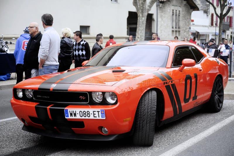 Een Dodge-uitdager royalty-vrije stock foto's