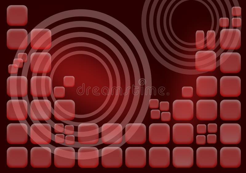 De rode Achtergrond van Vierkanten stock illustratie