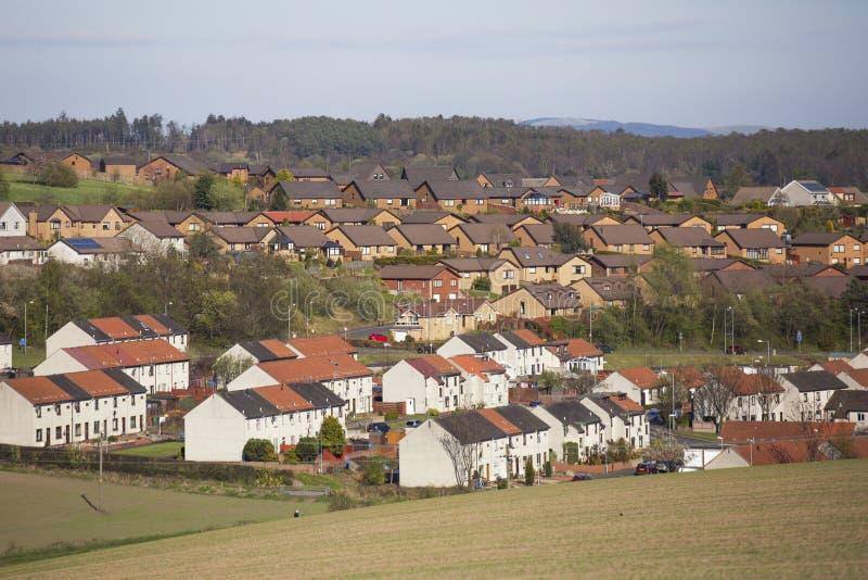Een dorp in Alloa Schotland royalty-vrije stock afbeeldingen