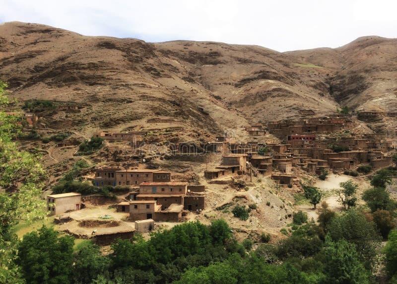 Een Dorp in de Atlasbergen, Marokko royalty-vrije stock foto