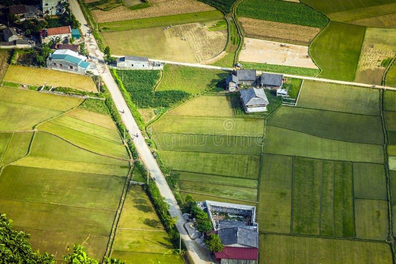 Een dorp in noordelijk Vietnam royalty-vrije stock fotografie