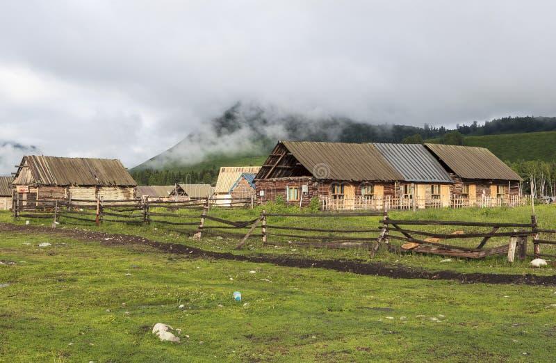 Een Dorp in Xinjiang royalty-vrije stock fotografie