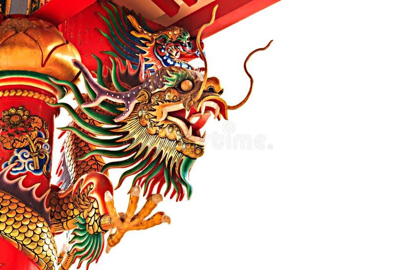 Een draakbeeldhouwwerk stock afbeelding