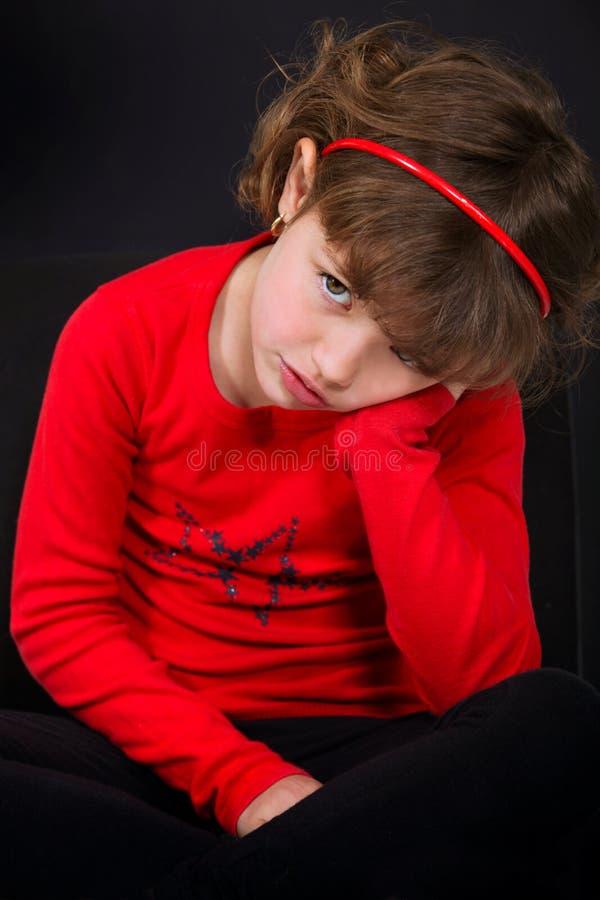 Een droevig meisje stock fotografie