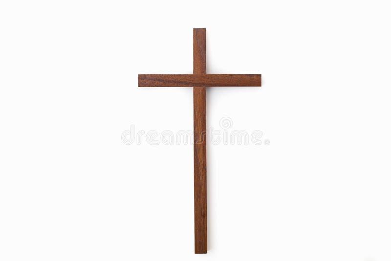 Een duidelijk houten kruis stock foto's