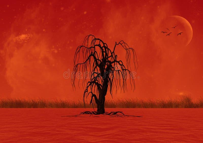 Een eenzame boom royalty-vrije illustratie
