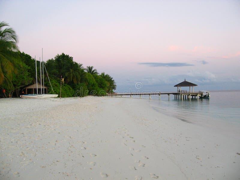 Een eiland Reasort stock afbeeldingen