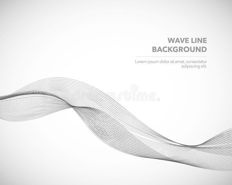 Een Elegant abstract vector de stijl van de golflijn futuristisch malplaatje als achtergrond stock illustratie