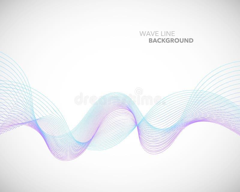 Een Elegant abstract vector de stijl van de golflijn futuristisch malplaatje als achtergrond royalty-vrije illustratie