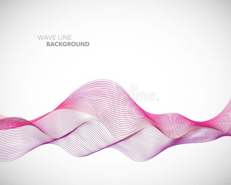 Een Elegant abstract vector de stijl van de golflijn futuristisch malplaatje als achtergrond vector illustratie