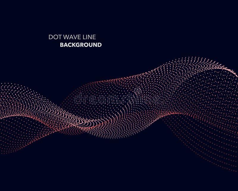 Een Elegant abstract vector van de de lijn futuristisch stijl van de puntgolf malplaatje als achtergrond stock illustratie