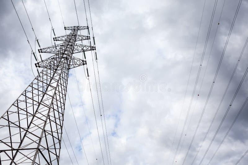 Een Elektriciteitspool royalty-vrije stock afbeelding