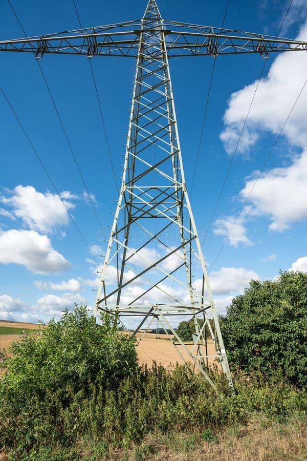 Een Elektriciteitspool stock fotografie